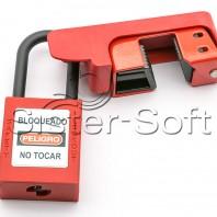 Caja Moldeada para el bloqueo (Lockout) de disyuntores grandes de 120 o 240 voltios
