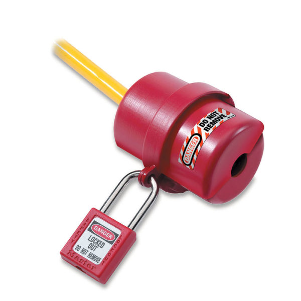 Bloqueo para enchufes circular rojo de 120 a 240 voltios