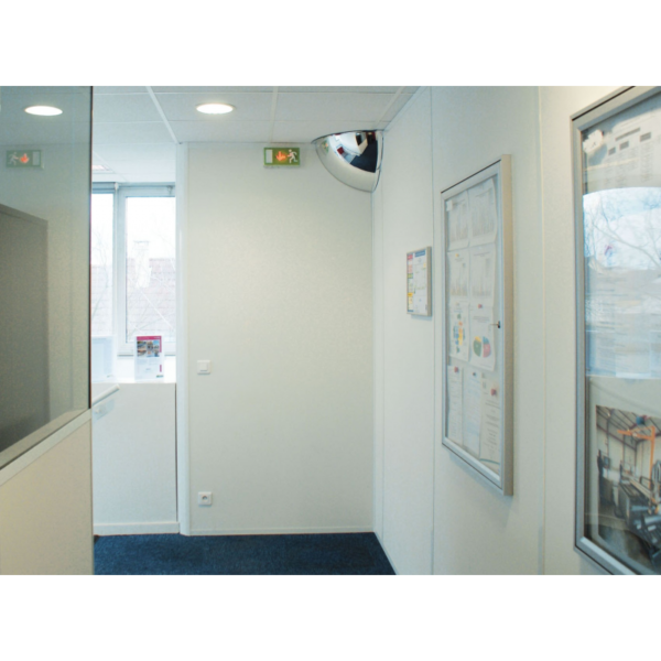 Espejo hemisférico para interiores, indicado para la vigilancia de accesos y passillos