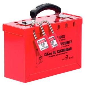 Central de Consignación: Caja de Bloqueo portable para LOTO roja