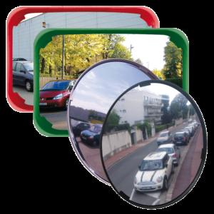 Espejos polivalentes para la seguridad y vigilancia