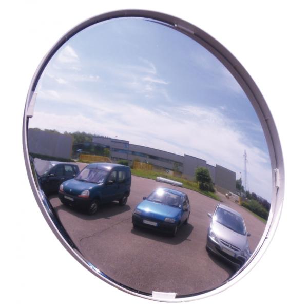 Espejo circular de seguridad en exterior