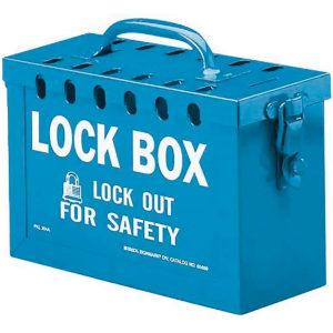 REF:LT00002-1 Caja de Lockout Azul