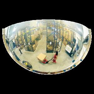 Espejo industrial con óptica Polymir irrompible con 180º de visión