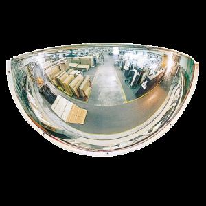 Espejo Industrial de cuarto de esfera 180º con óptica PMMA