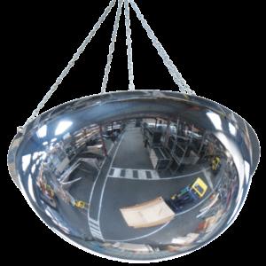 Espejo industrial semiesferico para colgar, óptica PMMA