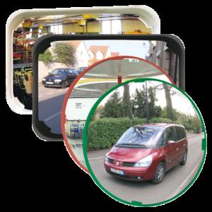 Espejos polivalentes de alta calidad con óptica P.A.S. para la seguridad y vigilancia