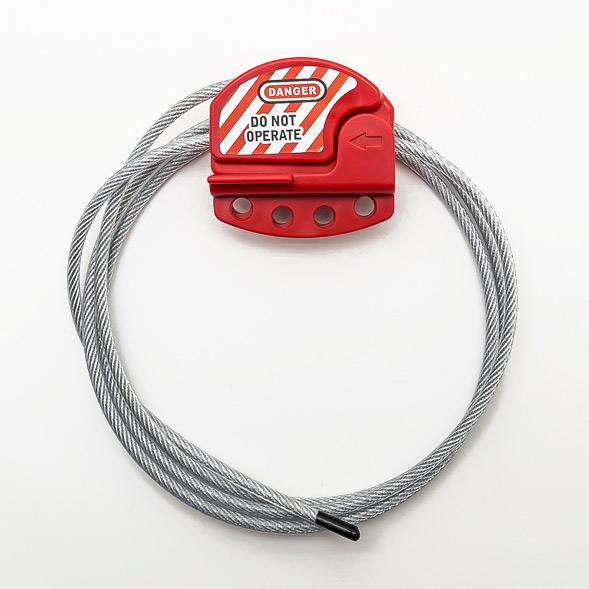 CabLocks - Bloqueo de Válvulas y Disyuntores mediante un cable de acero y un bloqueador de Xenoy
