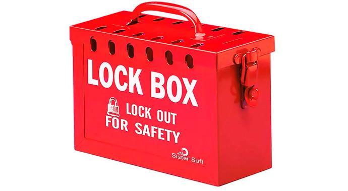 Caja de Bloqueo portable para LOTO roja