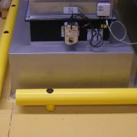 Protección de una máquina con los guardarailes Soft-Shock