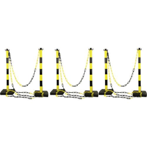 kit-6-postes-negro-amarillo