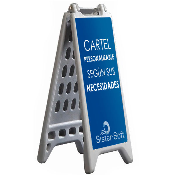 Caballete Personalizable con Lastre, ideal para zonas húmedas o suelos inestables como los de arena o grava