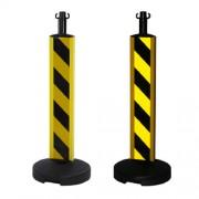 postes-alta-visibilidad-negro-amarillo