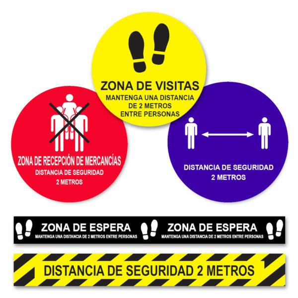 Señalización de Suelo - Distancia de seguridad