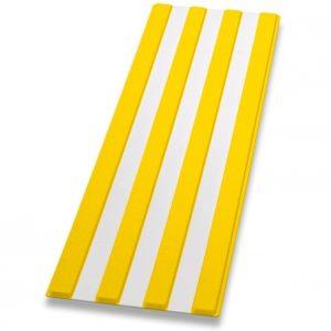 Guía de encaminamiento amarillo/blanco
