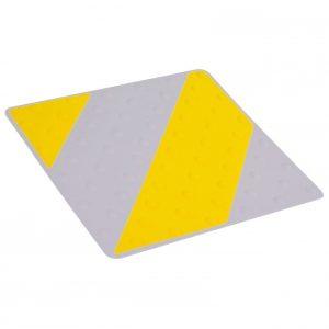 Placa podotáctil amarillo/gris