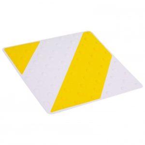 Placa podotáctil blanco/amarillo