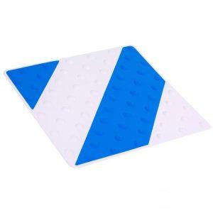 Placa podotáctil blanco/azul