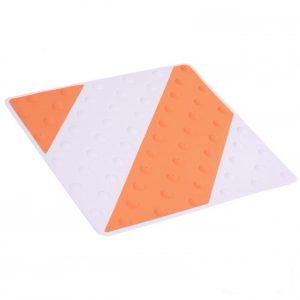 Placa podotáctil blanco/naranja