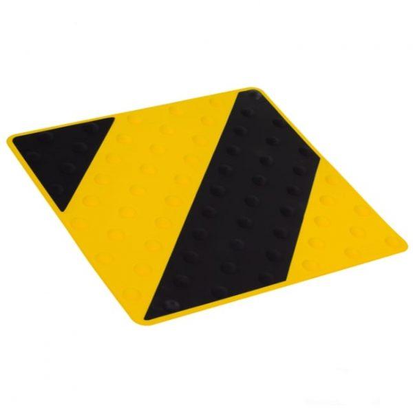 placa podotáctil negro/amarillo