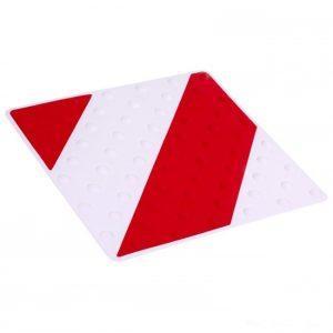 Placa podotáctil rojo/blanco
